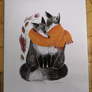 Other - **FREE in bundle**Snuggling Foxes art print (NEW)